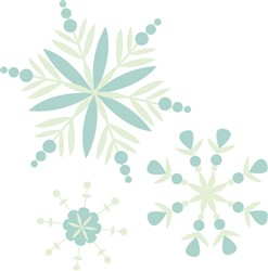 Winter Snowflakes print art