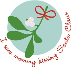 Mommy Kissing Santa print art