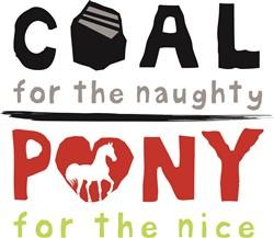 Coal or Pony print art