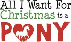Christmas Pony print art
