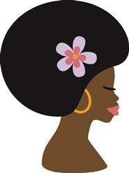Woman with Afro print art