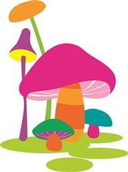Colorful Mushrooms print art