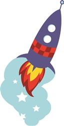 Rocket Ship print art