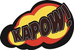 Cartoon Kapow print art