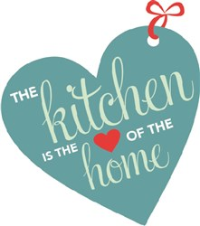 Kitchen is heart of home print art