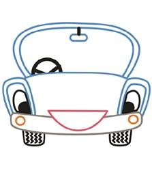 Happy Car print art