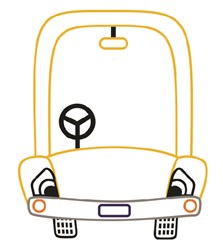 Cartoon Automobile print art