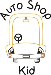 Auto Shop Kid print art