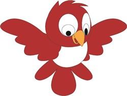Red Bird print art