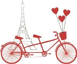 Paris Bicycle print art