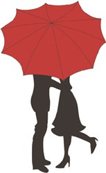 Kiss Under Umbrella print art