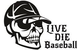 Live Die Baseball print art