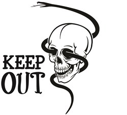 Keep Out print art