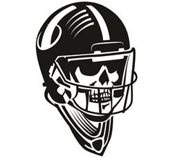 Football Skull print art