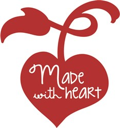 Made With Heart print art