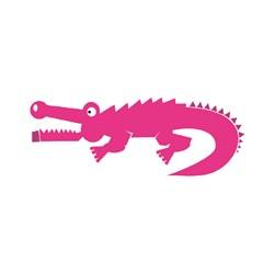 Pink Gator print art