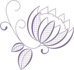 Retro flower print art