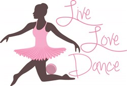 Live Love Dance print art