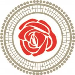 Circle Rose print art