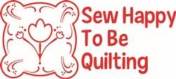 Sew Happy print art