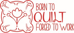 Born To Quilt print art