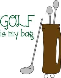 Golf Bag print art