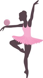Gymnast Ball print art