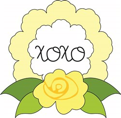 XOXO Rose print art