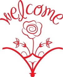 Welcome Rose print art