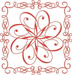 Red Flower print art