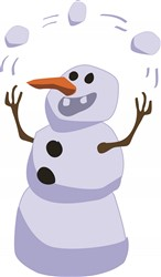 Juggling Snowman print art