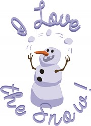 Love The Snow print art