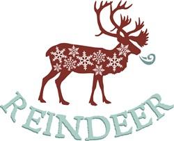 Reindeer print art