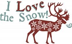 I Love Snow print art