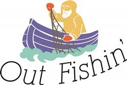 Out Fishin print art