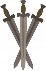 Viking Swords print art