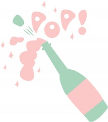Champagne Pop print art