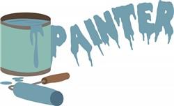 Paint Can & Roller print art