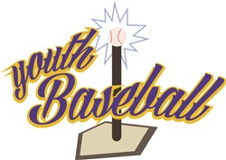 Youth Baseball print art