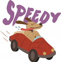 Speedy Dog print art