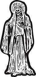 Santa Muerte Statue print art
