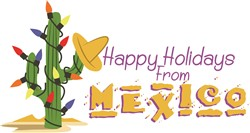 Holidays From Mexico! print art