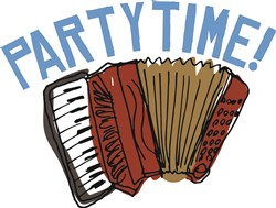 Accordian Party Time print art