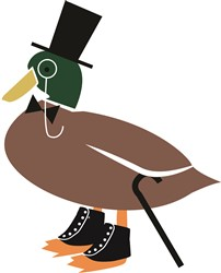 Duck in Spats print art