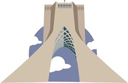 Azadi Tower Tehran print art