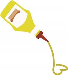 Mustard Bottle print art