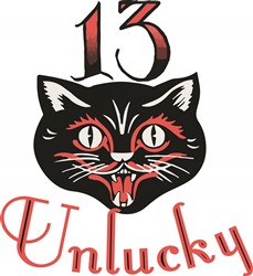 13 Unlucky print art