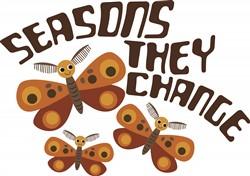 Adorable Cartoon Moths print art