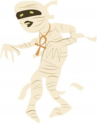 Halloween Mummy print art