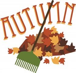 Autumn Leaf Pile print art